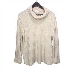 Size 1x Addition Elle Cream Turtleneck Sweater